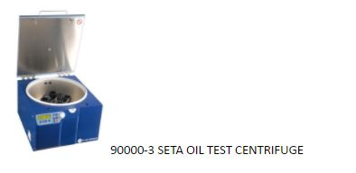 Oil test centrifuge
